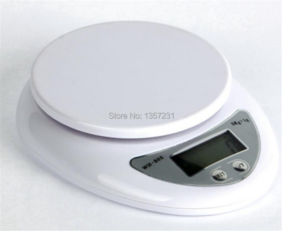 180 шт./лот 5кг Цифровые Еда и диетического питания весы баланс