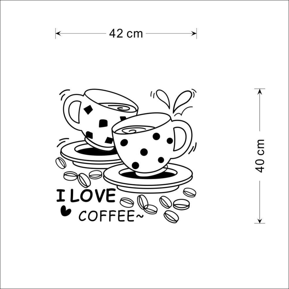 1 X I Love Coffee New Design Home Wall Decal Removable Waterproofing Cute  Coffee Cup Quote Wall Sticker ZY8241 In Wall Stickers From Home U0026 Garden On  ...