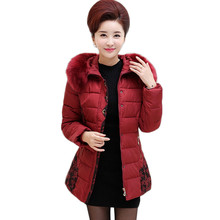 2016 Winter Jacket Women Fur Collar Cotton Jacket Women Thick Plus Size Cotton-Padded Winter Coat Women Parkas XL-5XL SS980