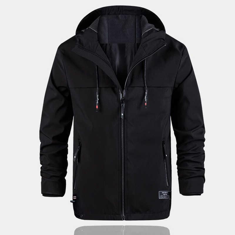 Куртка-молния, мужская одежда 2018, осенние мужские куртки и пальто, Брендовые повседневные куртки с длинными рукавами и капюшоном, Jaqueta Masculina Hombre
