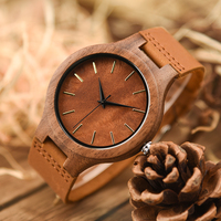 DODO DEER Wooden Male Watch Promotion Leather Private Custom Logo Wood Watches Men Quartz Accept Dropshipping A13 6