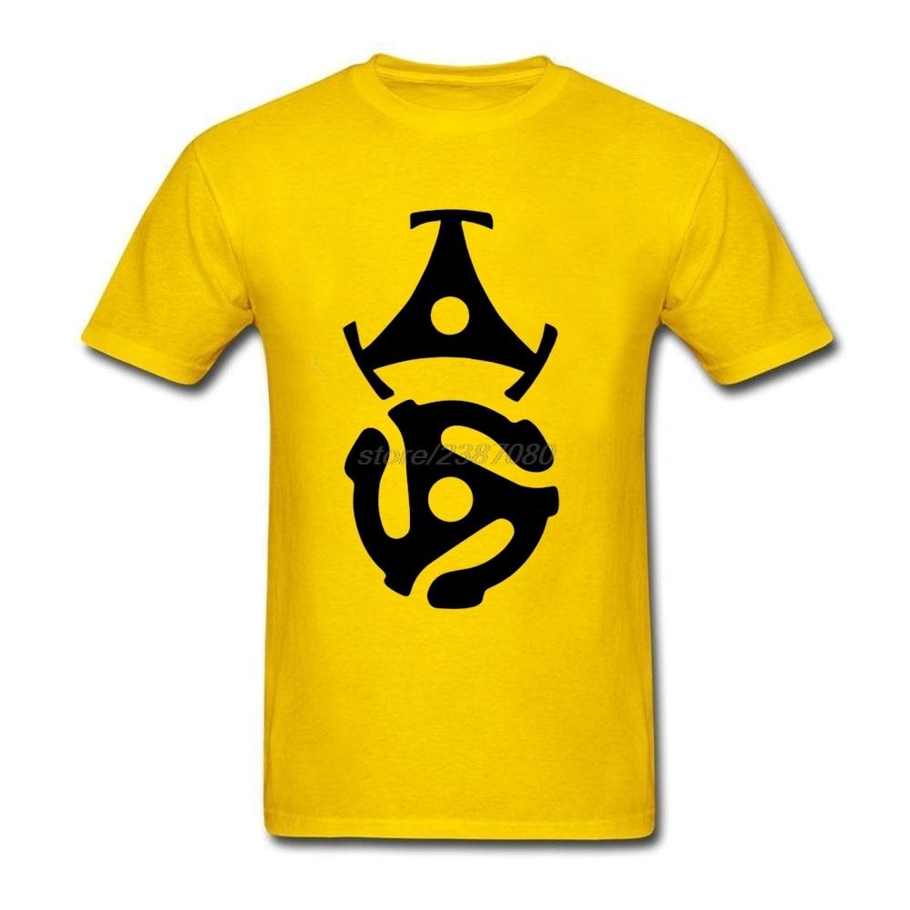 Humorous T Shirts For Mens Dj Vinyl Design Two 45 Rpm Record