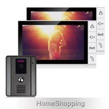 ENVÍO de la Nueva 9 pulgadas Pantalla a Color TFT LCD de Video Teléfono de La Puerta Sistema de intercomunicación 1 Visión Nocturna de la Cámara de La Puerta + 2 Monitor EN STOCK