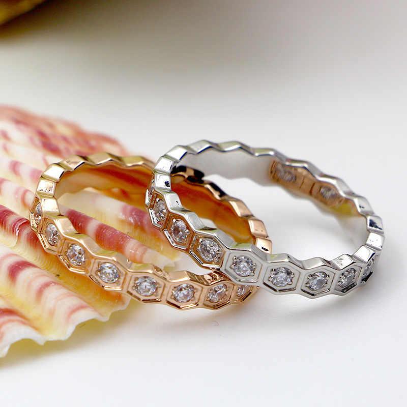 Martickหรูหราแหวน316Lสแตนเลสที่มีเต็มS Hiningเพชรรัสเซียแหวนสำหรับผู้หญิงพรรคแหวนเครื่องประดับR38