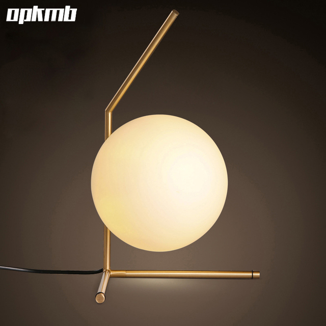 Nordic Glass Ball Table Light Art Decoration Desk Lamp For Bedroom/study  Room Bedside Table