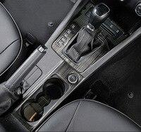 black item for Skoda Octavia 2015 2018 Octavia wagon 2017 2018 Interior decoration Gear Glass switch panel decorate frame