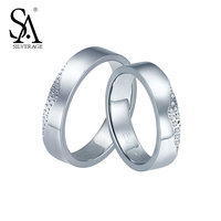 SILVERAGE Real 925 Sterling Silver Couples Rings Fine Jewelry Women Kiss Lip 2016 Summer New Design