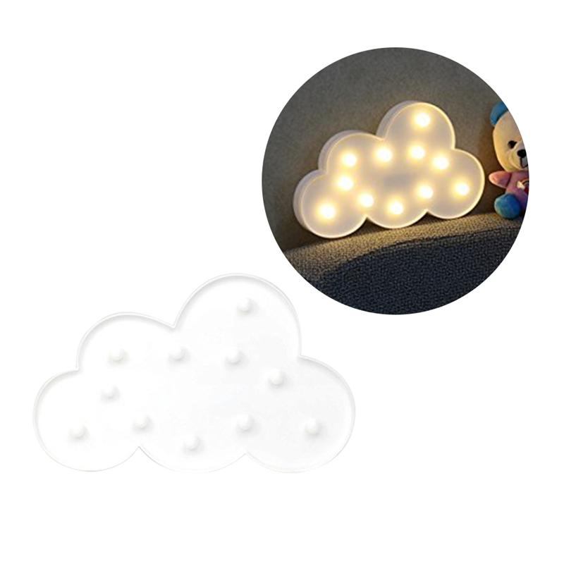 11 LED висит Таблица Декор облако в форме ночник для Рождество дома Свадебная вечеринка украшения (белый)