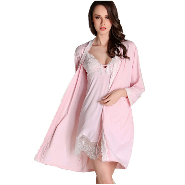 Women's Mini Length Robe Set Sexy Female Nightwear & Sleepwear Set Wholesale Price Best Gifts Items For Friends Christmas Gifts