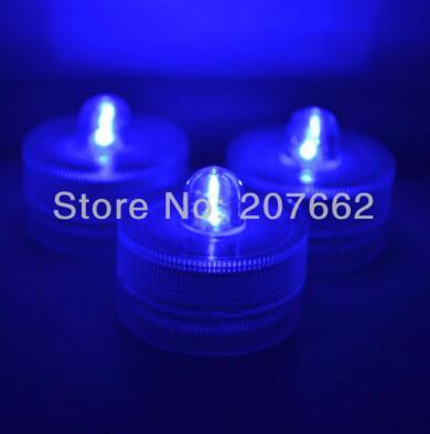 48 шт./лот беспламенного свеча свет погружной водостойкий светодиодная свеча-таблетка огни батарея работает Свадебная ваза - Цвет: blue