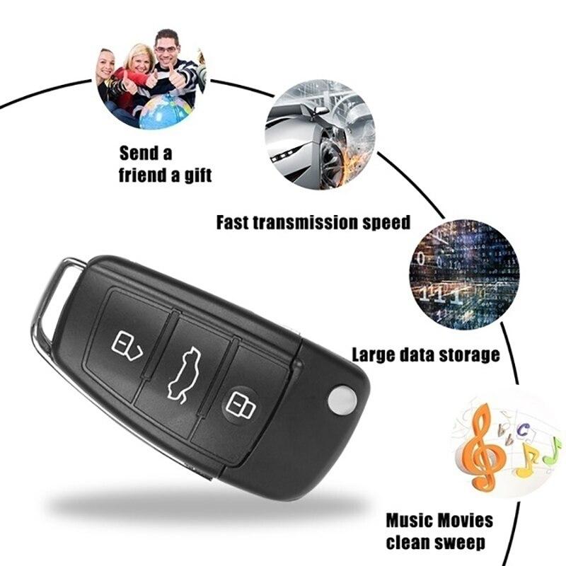 Car Key Memory Stick Usb 3.0 Waterproof Usb Flash Drive 128gb 64GB 32GB U Disk Key Pendrive 16GB 8GB Pen Drive Free Adapter