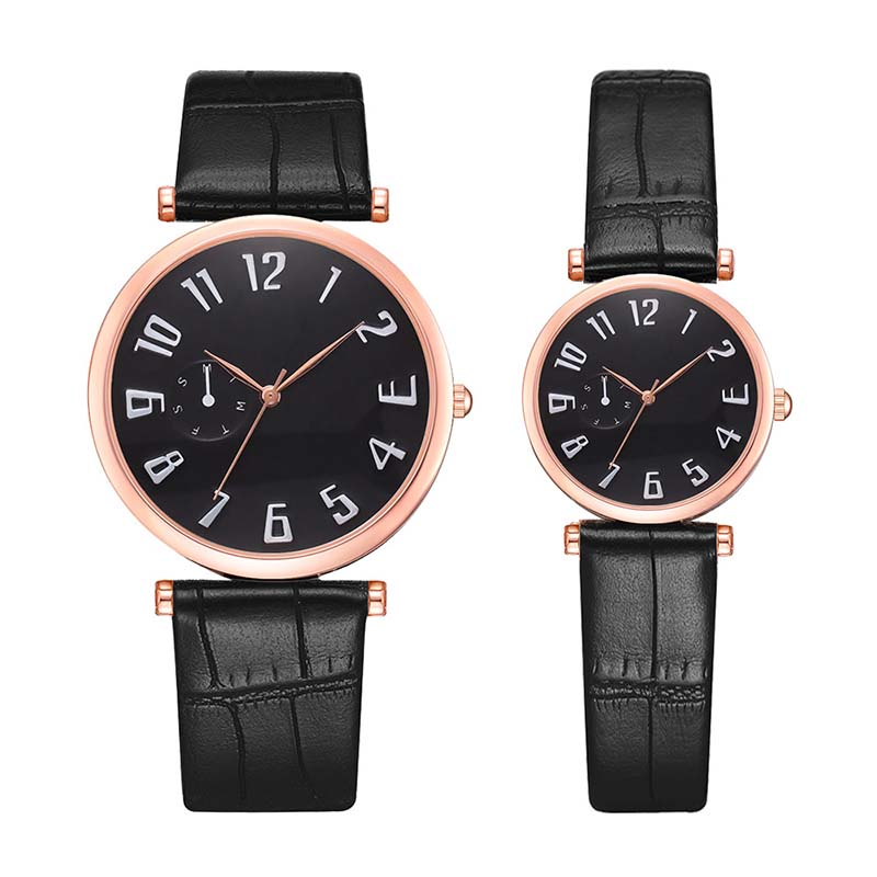 Couple Watches Lover's Commemorate Gift Clock Fashion Unisex Watch Leather Strap Line Analog Quartz Ladies Wristwatches Mujer