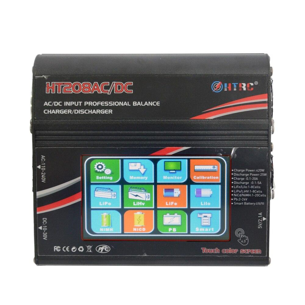 """HTRC HT208 equilibrio ChargerAC DC/DC 4,3 """"Color LCD pantalla táctil 420 W 20A RC descargador de batería para 1  8 s Lilon/LiPo/vida/LiHV batería-in Partes y accesorios from Juguetes y pasatiempos    2"""
