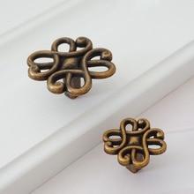Decorative Knob Dresser Drawer Knobs Pulls Handles Antique Brass / Kitchen Cabinet Handle Furniture Hardware Metal