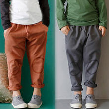 2018 Spring Autumn 2-7 8 9 10 Years Solid Color Cotton Drawstring Child Baby Kids Unisex Sports Long Trousers Pants For Boy Girl