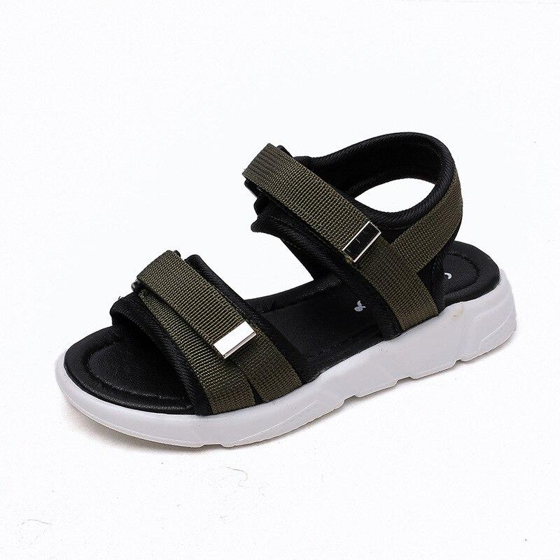Boys Beach Sandals Kids Girls Summer Rubber Sole Hook & Loop Slip-resistant Tap Sandals Shoes Size 26-36