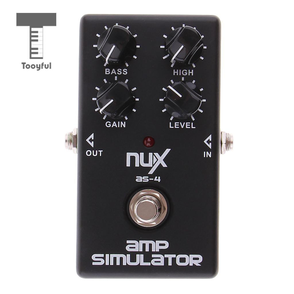 Tooyful NUX AS-4 Mini Guitar Distortion Amplifier Simulator Effect Pedal Guitar Electric Effect Pedal AMP True Bypass aroma aos 3 octpus polyphonic octave electric guitar effect pedal mini single effect with true bypass