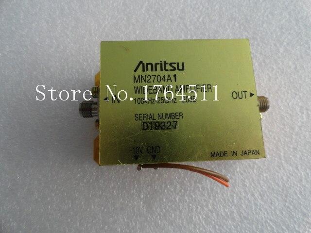 [BELLA] Anritsu MN2704A 100KHZ-25GHZ 20dB 10V SMA RF Microwave Broadband Amplifier