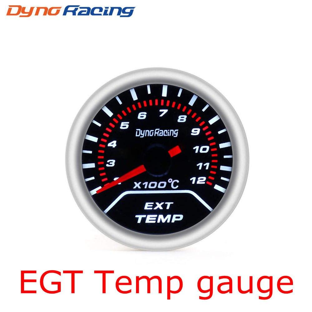 """Dynoracing """" 52 мм Автомобильный манометр бар psi температура выхлопных газов температура воды Температура масла пресс воздуха датчик топлива вольтметр Тахометр - Цвет: Exhaust Temp Gauge"""