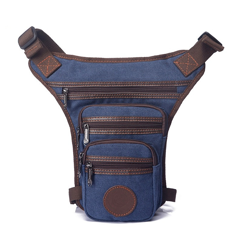 casual waterproof canvas waist pack military waist bag vintage men fanny pack leg bag thigh holster bag belt waist pouch fashion