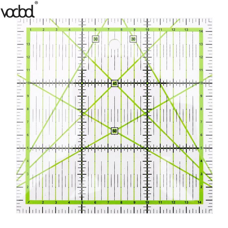 Vodool High Grade Acrylic Multi Function Clothing Ruler 15 * 15cm Sewing Patchwork Feet Tailor Yardstick Cloth Cutting Rulers