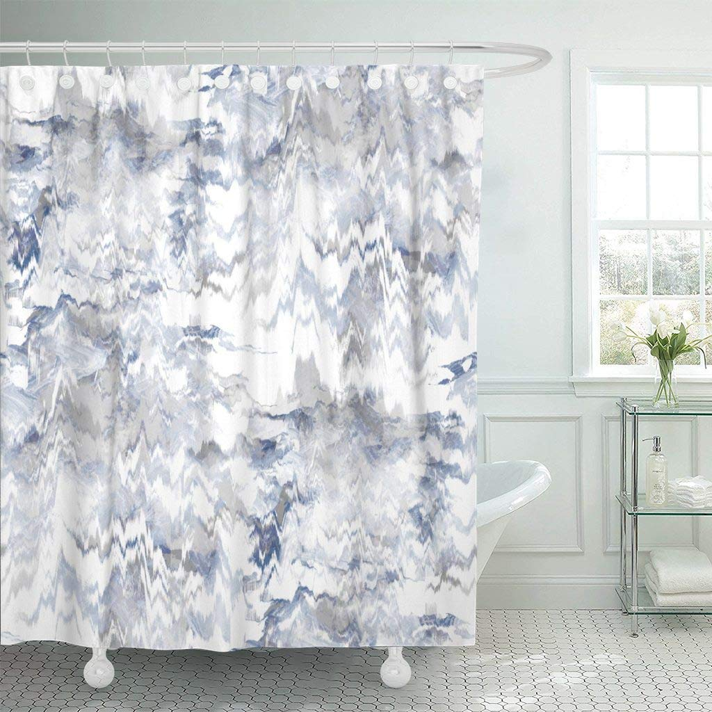 Aliexpress Com Buy Shower Curtain Hooks Blue Artistic