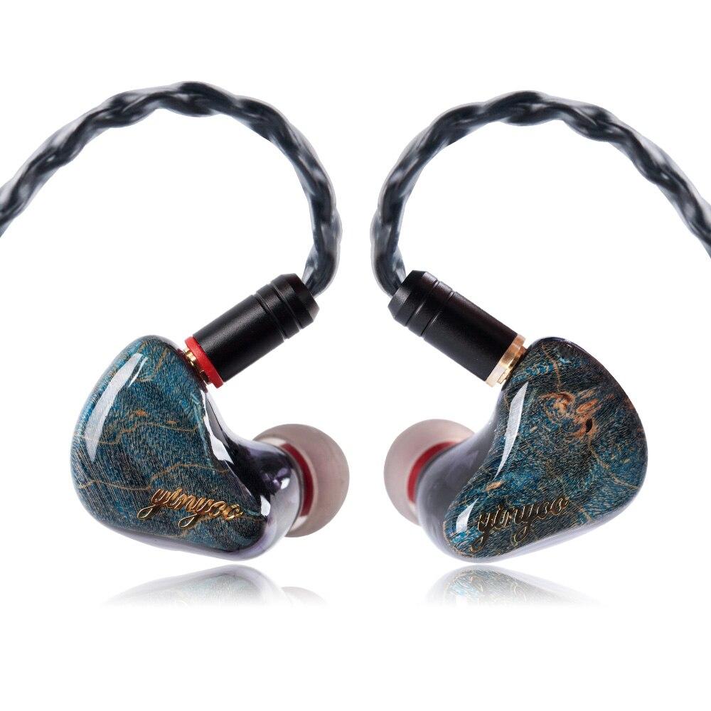 AK Yinyoo HX5 1DD + 4BA Híbrido Em fones de Ouvido Fone de Ouvido de ALTA FIDELIDADE Do Monitor DJ Correr Desporto Costumes Feitos Earbud do Fone de Ouvido Earplug substituível Cabo