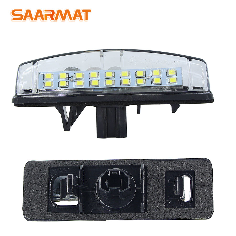 2Pcs CanBus LED License Plate Lights For Toyota Camry/Aurion Avensis Verso Echo Prius LEXUS  Is200 / Is300 1999~2005 Number Lamp