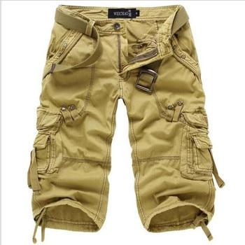 8 Colors Plus Size 29-42 New Brand Summer Camouflage Loose Cargo Shorts Men Camo Summer Short Pants Homme Cargo Shorts NO BELT 6