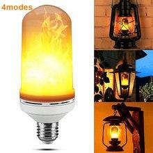 E27 3 W светодиодный эффект пламени огня лампочки мерцающего эмуляции декоративные лампы имитация Винтаж пламя лампы для клуба Бар Спальня