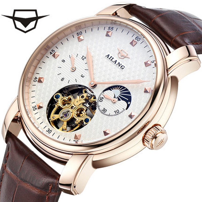 AILANG New 2017 Men Fully Automatic Mechanical Watch Tourbillon Watches Fashion Brand Luxury Genuine Leather Man MultifunctionalAILANG New 2017 Men Fully Automatic Mechanical Watch Tourbillon Watches Fashion Brand Luxury Genuine Leather Man Multifunctional