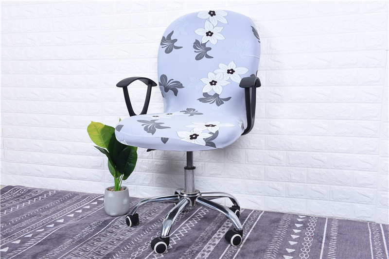 Elasticity Office Computer Chair Cover Side Arm Chair Cover Recouvre Chaise Stretch Rotating Lift Chair Cover Without Chair (39)