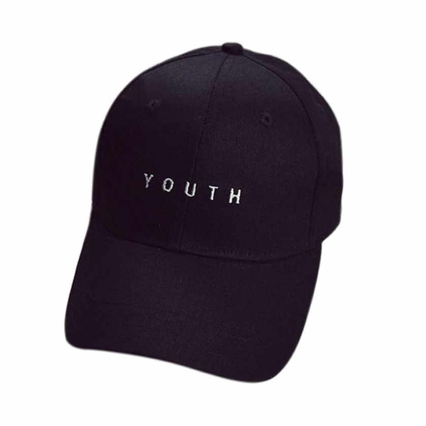 bb8be368165 2018 Caps Youth Baseball Letter Men Woman Adjustable Caps Casual Hats Solid  Color Black White Fashion