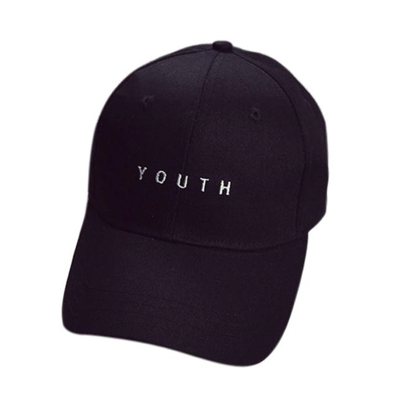 2018 Caps Youth Baseball Letter Men Woman Adjustable Caps Casual Hats Solid Colors Black White Fashion Snapback Summer Fall Cap