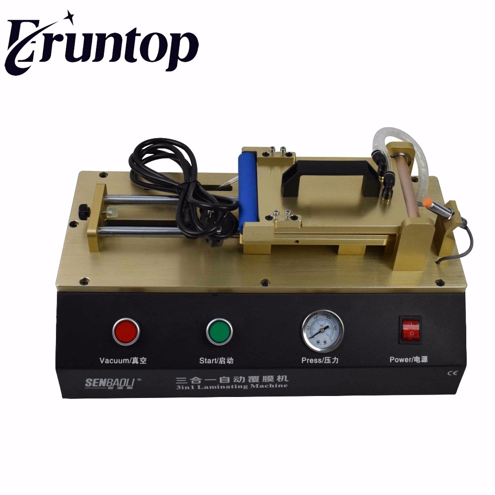 цены  3-in-1 Automatic OCA Film Laminating Machine With Built-in Vacuum Pump and Air Compressor For LCD Screen Repair