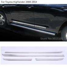 Отделка двери автомобиля полосы литья потока лампы ABS Хромированная панель бампер 4 шт. для Toyota Highlander 2008 2009 2010 2011 2012 2013