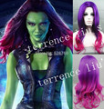 New Guardians of the Galaxy Gamora Wig Synthetic Long Wavy Gradient Cosplay Wig  Costume wigs  Free shipping