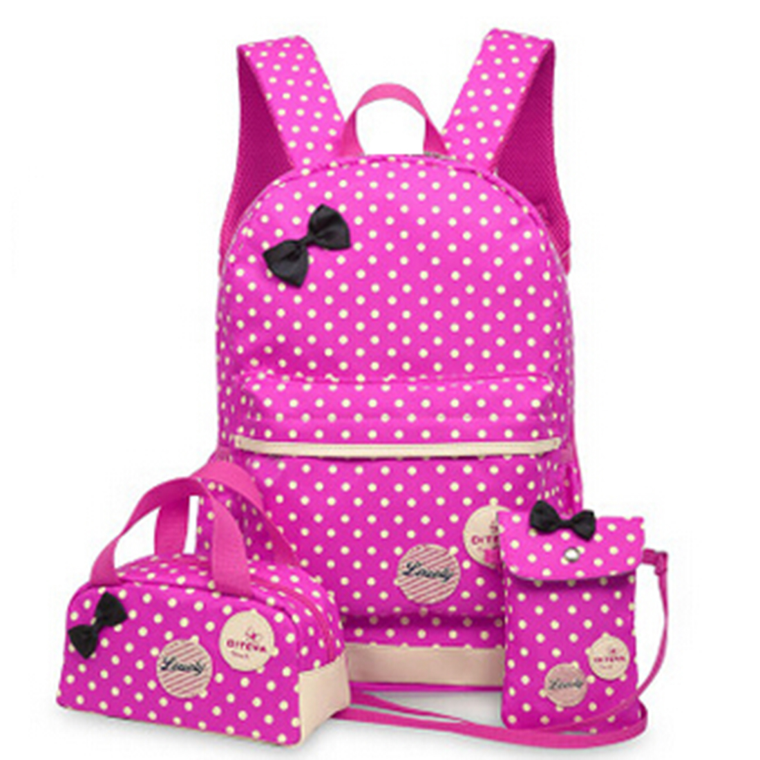 3 Pcs Set New waterproof Girl School Bags For Teenagers backpack women shoulder bags