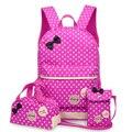 3 Pcs/Set New waterproof Girl School Bags For Teenagers backpack women shoulder bags