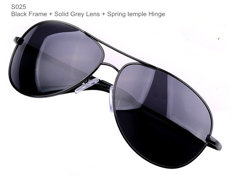 Поляризационные мужские солнцезащитные очки, Брендовые очки, мужские очки из пушечного металла, классические металлические солнцезащитные очки для мужчин - Цвет линз: BrandSunglasses S025
