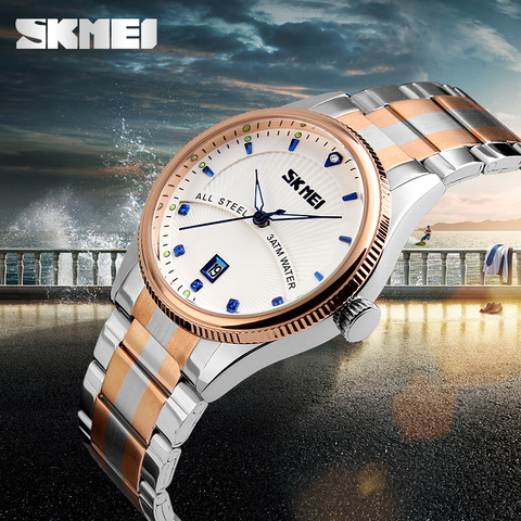 2019 Watches men luxury brand Skmei quartz watch men full steel wristwatches dive 30m Fashion sport watch relogio masculino Islamabad