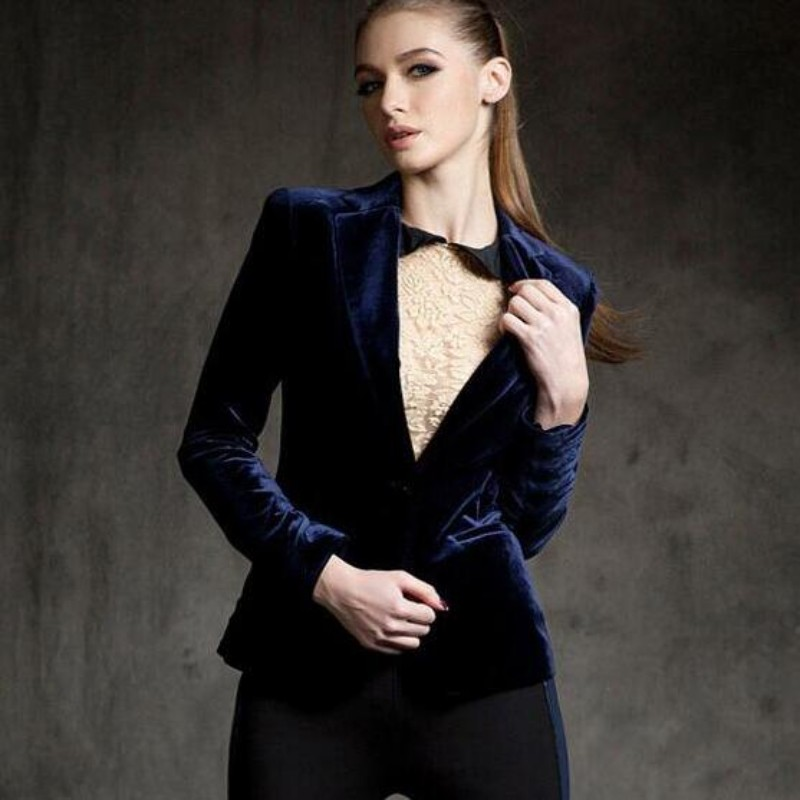 Popular Velvet Blazer Women-Buy Cheap Velvet Blazer Women lots ...