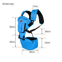 Multi-purpose Ergonomic Baby Carrier With Removable windproof Hat Pocket Infant Toddler Breathable Hipseat 0-36 Months Backpack