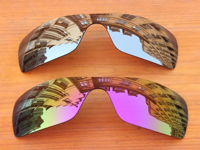 22702b0c576ad Chrome Silver   Roxo 2 Peças Espelho Polarizado Lentes de Substituição Para  O Batwolf Óculos De