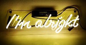 I am Alright Neon Light Sign Beer Bar