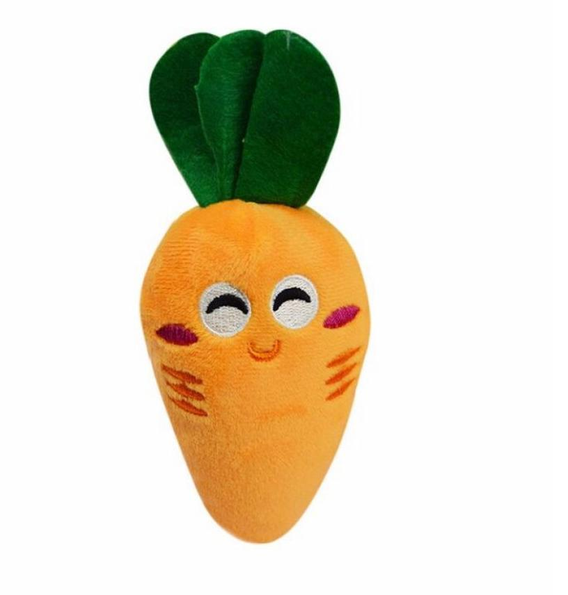 2017 Hot Fashion Hot Sale Pet Funny Dog Puppy Chew Toy Squeaky Plush Sound Cute Vegetable Carrot Design Pet Toys