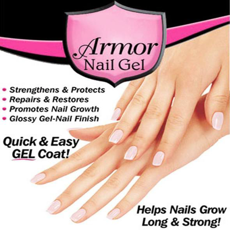 2018 New Pink Armor Nail Gel Growth Formula Treatments Nail Coat for ...