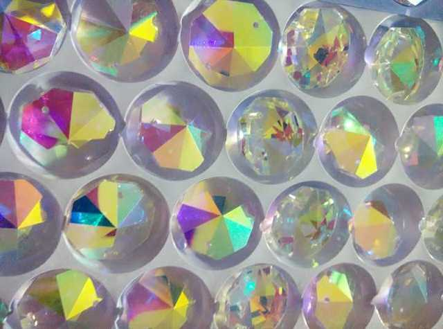Aliexpress.com : Buy 220pc 22mm AB Pointed Octagon Glass Crystal ...