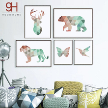 CV Geometric Animals Canvas Art Print Painting Poster FA237