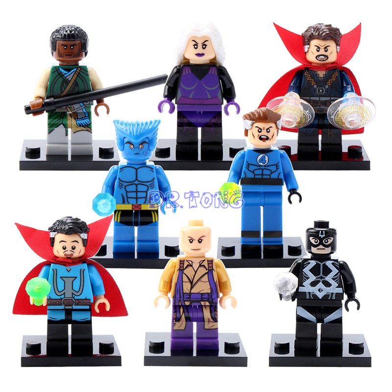 DR.TONG Super Heroes Doctor Strange Mr. Fantastic Baron Mordo Clea Ancient One Mini Dolls Building Blocks Figures Toys X0128 дал р потрясающий мистер фокс fantastic mr fox